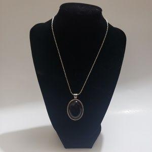 EXPRESS black pendant necklace